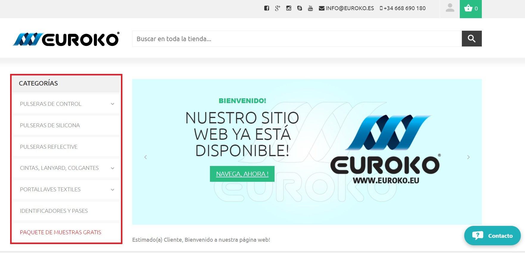 categoria de la págian euroko.es